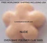 Polymer clay.  500g. Oven bake polymer clay, Nude, Flesh, figurine clay,  Free worldwide shipping (1)